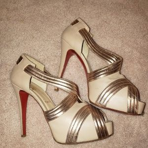 Louboutin heels size 39 limited edition. 8.5